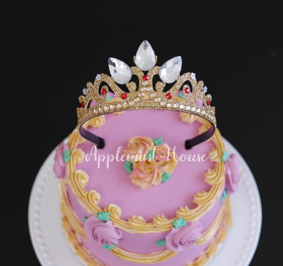 Rapunzel Crown Princess Birthday Cake Topper