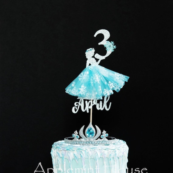 Sensational Elsa Cake Topper Elsa Birthday Cake Topper Disney Princess Etsy Funny Birthday Cards Online Overcheapnameinfo