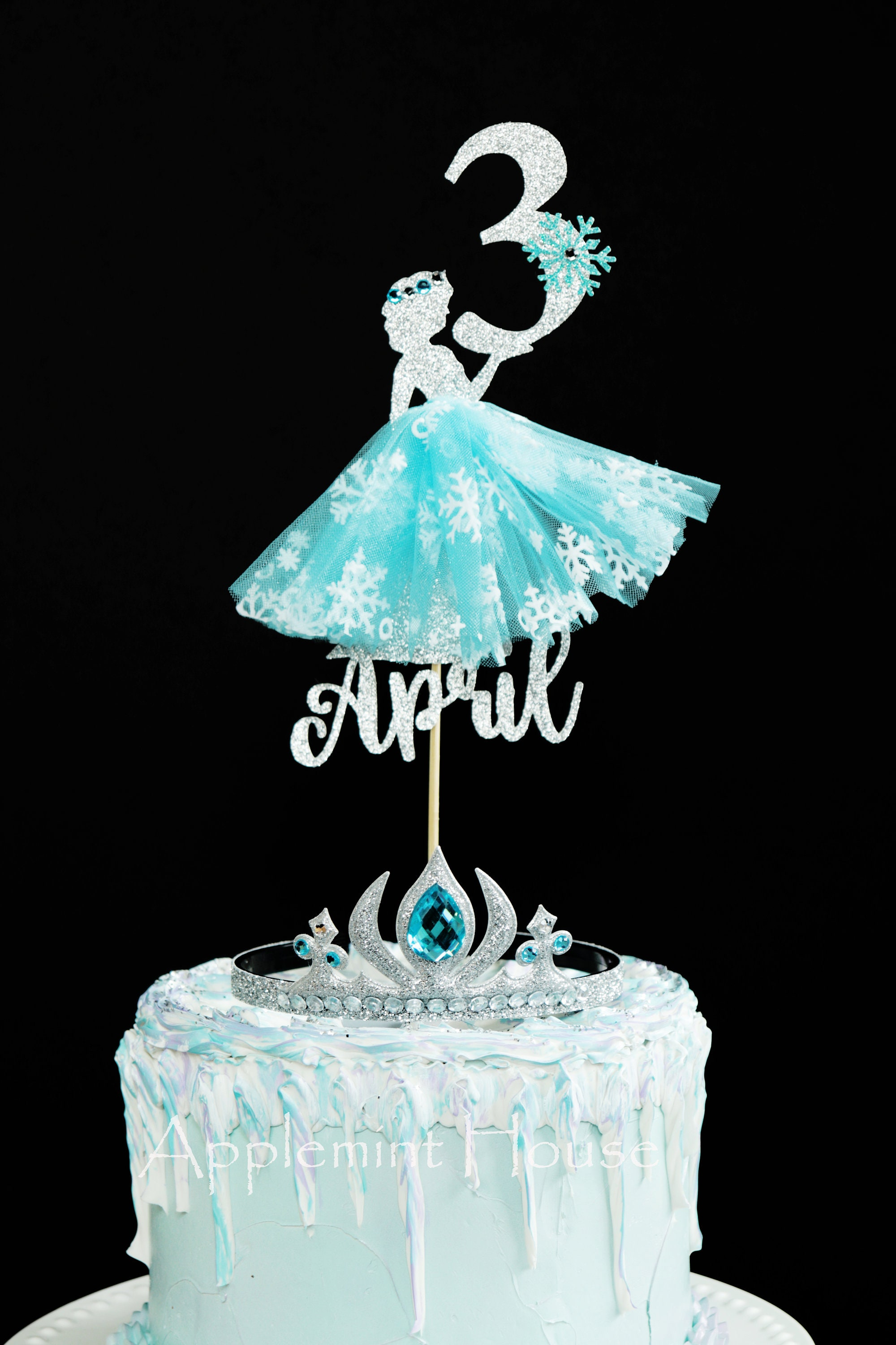 Astonishing Elsa Cake Topper Elsa Birthday Cake Topper Elsa Birthday Cake Personalised Birthday Cards Bromeletsinfo