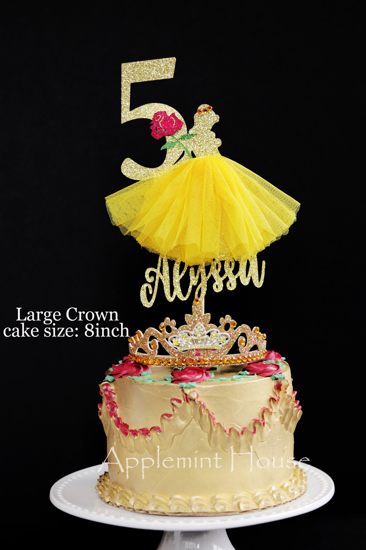 Phenomenal Sale Beauty And The Beast Birthday Cake Topper Princess Belle Funny Birthday Cards Online Kookostrdamsfinfo