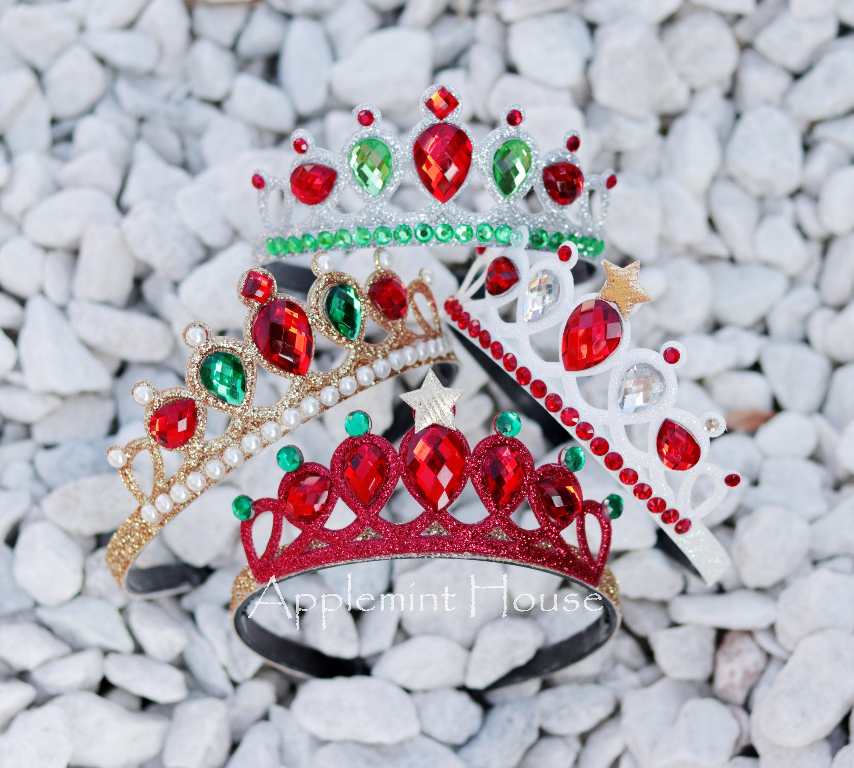 Christmas Headband Christmas Crown Christmas Party Crown Christmas Red Crown Christmas Photo Prop Headband Baby Christmas Headband