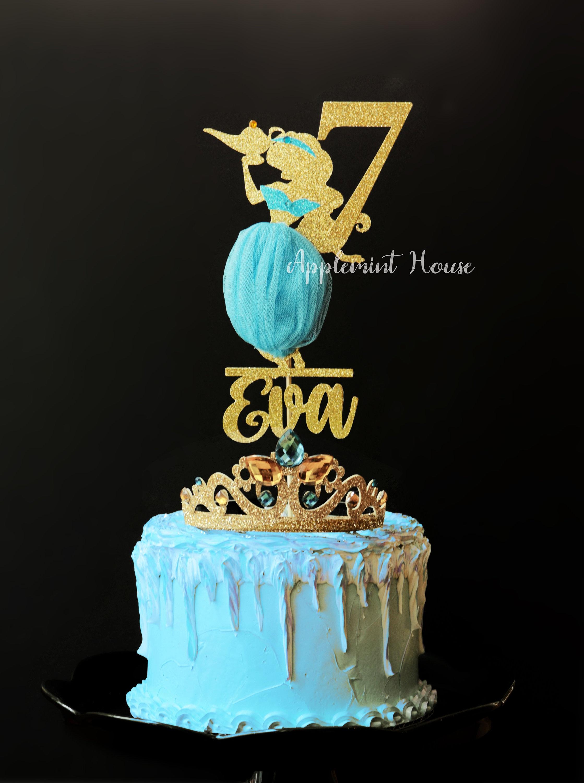 Princess Jasmine Birthday Cake Topper Aladdin Jasmine Cake Topper