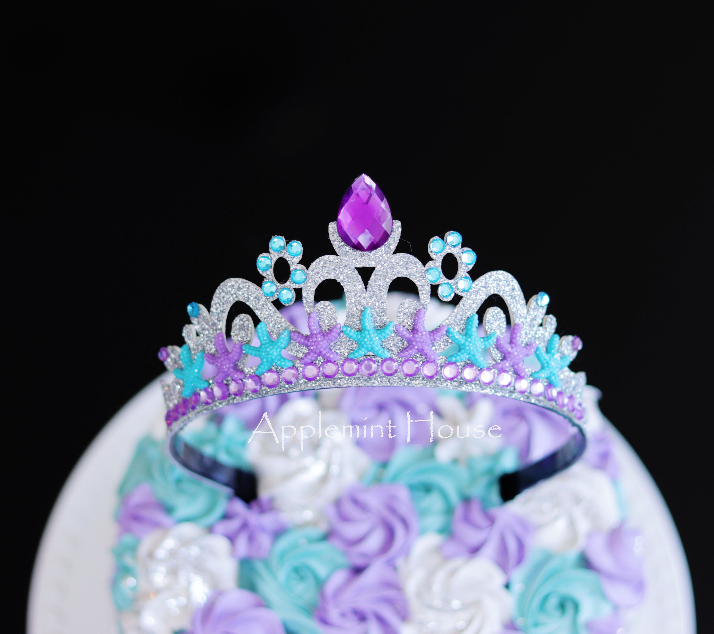 Terrific Mermaid Crown Princess Ariel Crown Mermaid Birthday Crown Crown Funny Birthday Cards Online Drosicarndamsfinfo