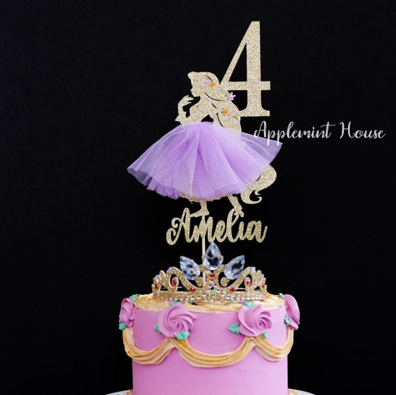Princess Rapunzel Birthday Cake Topper