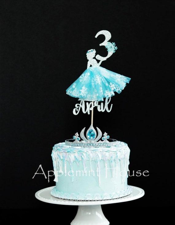 Elsa Cake Topper Elsa Birthday Cake Topper Disney Princess Etsy