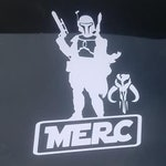 Mandalorian Merc Vinyl Decal Star Wars
