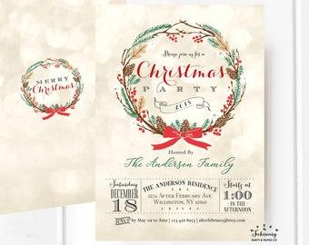 holiday party invitations holiday invite christmas printables christmas invitations invite printable no520xmas