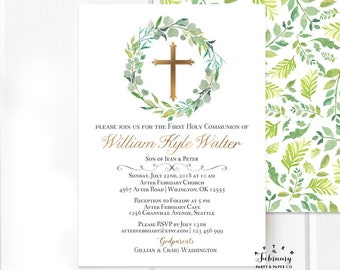 boy communion invite etsy