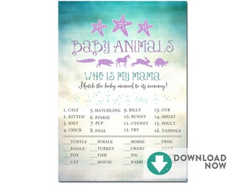 Mermaid Baby Shower Favors Sign 8x10 5x7 Etsy