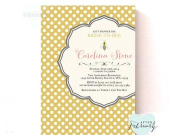 Bee Bridal Shower Invitation - Queen Bee Bridal Shower - Bee Bridal Party - Digital Printable No.379BRIDE