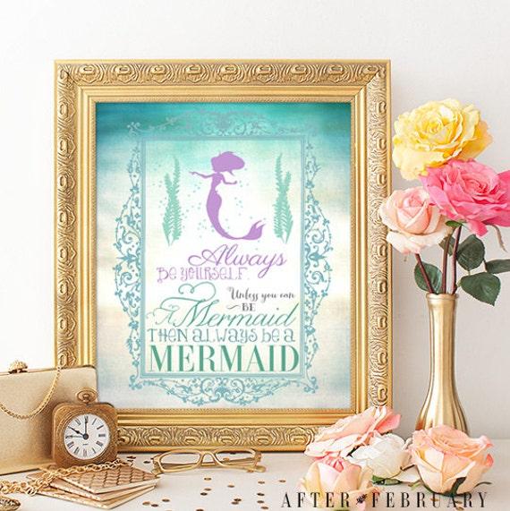 Mermaid Wall Art Print 8X10 Always Be A