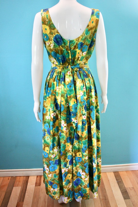 60's Jumpsuit 60's Floral Palazzo Style Hawaiian … - image 7
