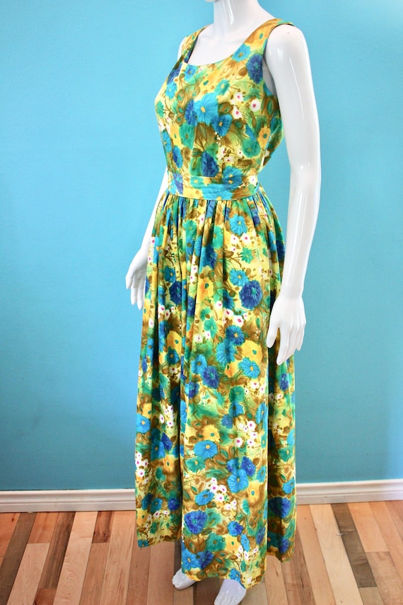 60's Jumpsuit 60's Floral Palazzo Style Hawaiian … - image 5