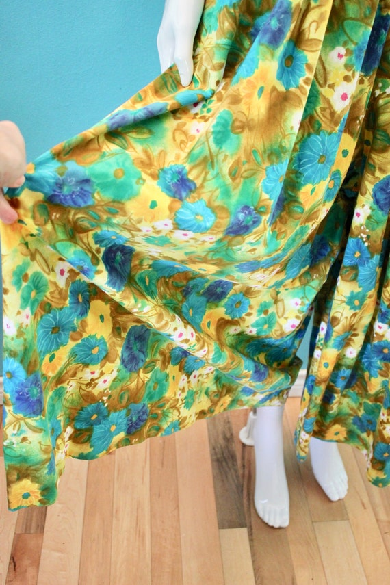 60's Jumpsuit 60's Floral Palazzo Style Hawaiian … - image 4