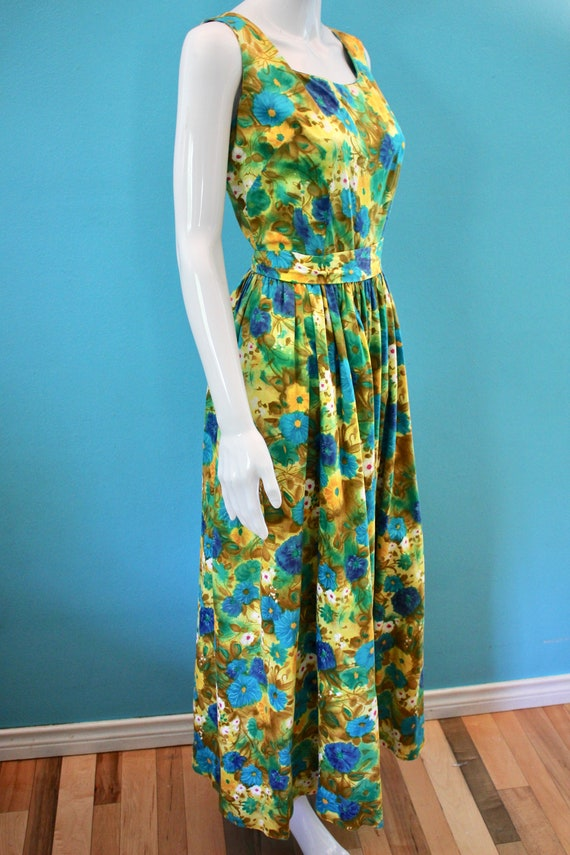 60's Jumpsuit 60's Floral Palazzo Style Hawaiian … - image 6