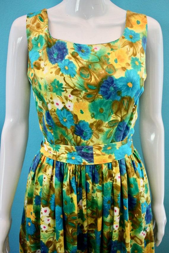 60's Jumpsuit 60's Floral Palazzo Style Hawaiian … - image 3