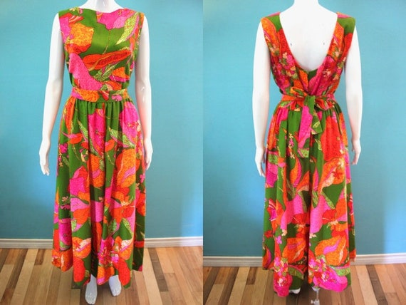 Hawaiian Jumpsuit 1960's Mod Psychedelic Lily Prin