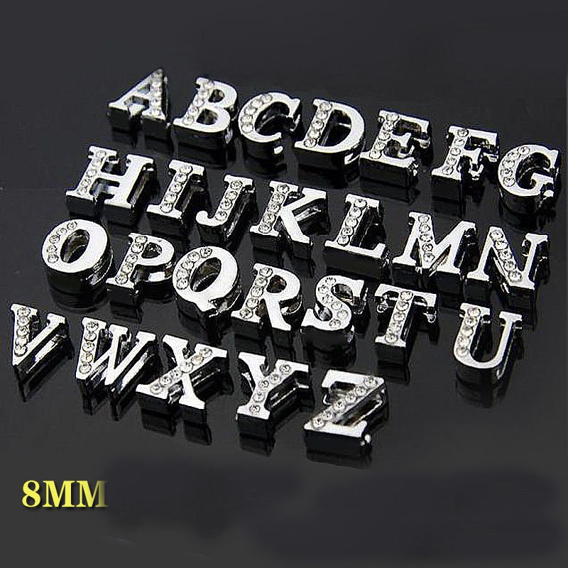 26pcs DIY Alphabet A-Z Charms Legierung Anhänger Buchstaben Schmuckherstellung