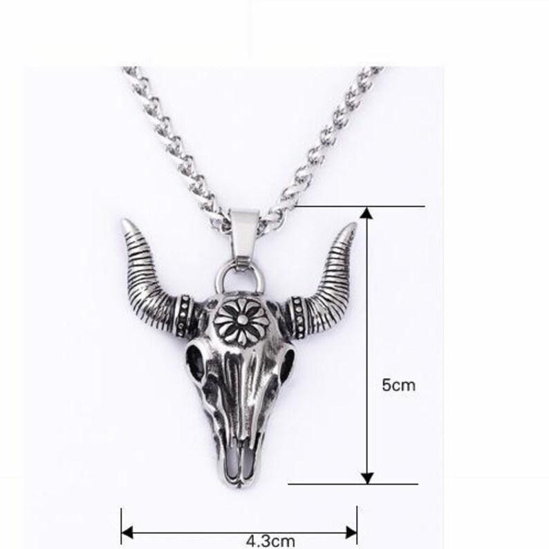 596f7d45fa7 Tauren gothique taureau tête de boeuf totem hommes argent