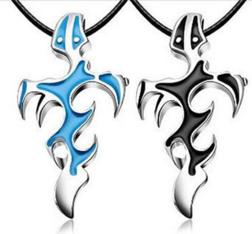 ae6ab33b4a4 MENs Dragon Tribal Tattoo lame en acier inoxydable pendentif