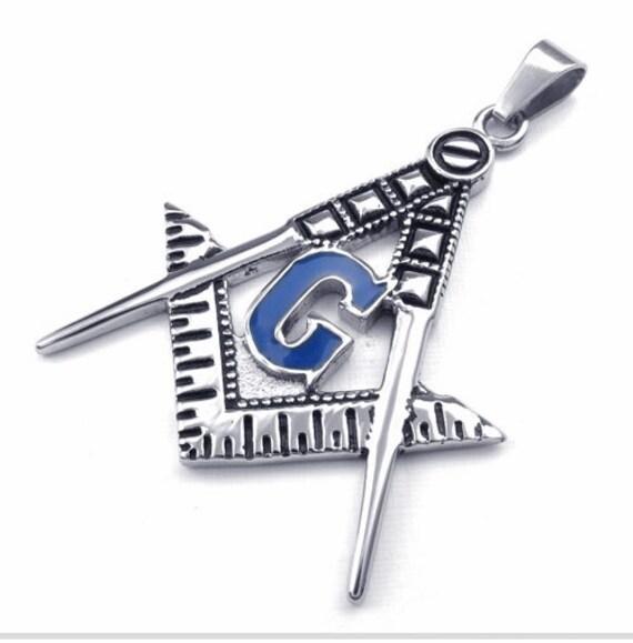 Titanium Stainless Steel Masonic Symbol Blazing Star God Charm