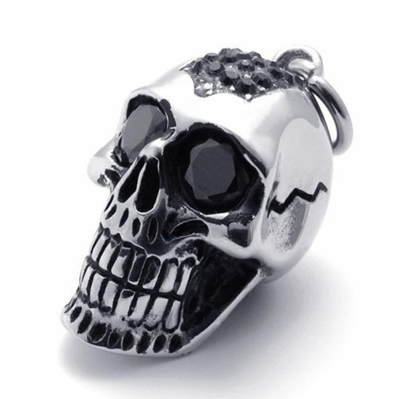 Nueva Pulsera De Cráneos Gótico Biker Cráneo De Cadena Steampunk para De hombre Joyas para hombre