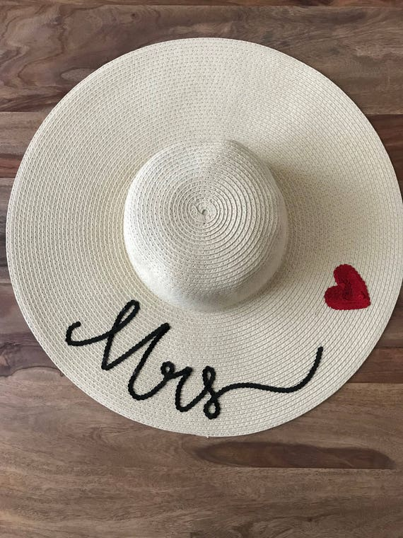 Mrs floppy hat customised hat personalised hat floppy hat  947baa6856e