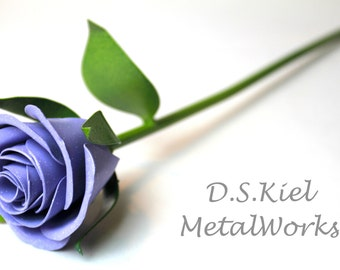 Metal Sweetheart Purple Rose, Mother's Day, Mothers Day, 11th Anniversary, 6th Anniversary, 4th Anniversary, Metal Rose, Forever Rose