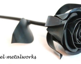 Metal Rose, Metal Sweetheart Rose, Metal Flower, Gift for Him, 11th Anniversary, 6th Anniversary Gift, 4th Anniversary Gift