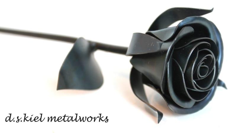 4th Anniversary Gift Metal Flower 6th Anniversary Gift Metal Rose Gift for Him Metal Sweetheart Rose 11th Anniversary
