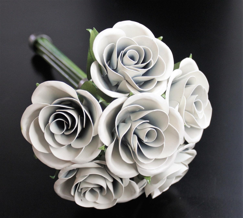 Metal Rose Wedding Bouquet Bridal Bouquet Rose Bridal Bouquet