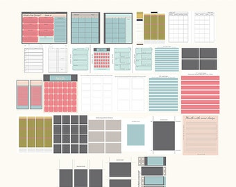 Personal Use Planner Templates no Stickers  - EC - A5 - A2 - Daily/Weekly - Editable in Photoshop - Printable - Digital Download