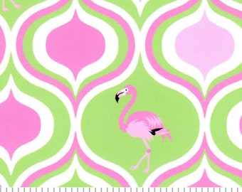 95442f81e494 Fabirc Finders lime and hot pink flamingo fabric print  1879