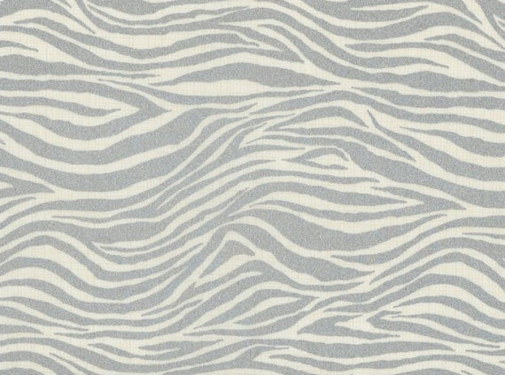 New Modern Funky Stripe Zebra Style Purple White Lightweight Furnishing Fabrics