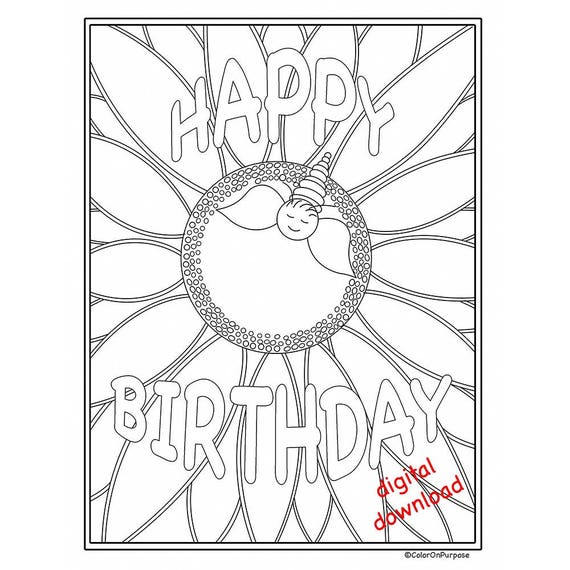 image about Happy Birthday Printable Coloring Pages called Birthday Coloring Web pages/Satisfied Birthday Printable Coloring Web page/8.5x11\