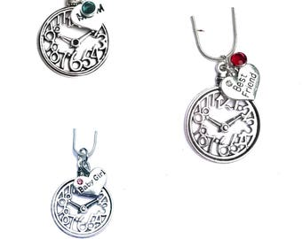 Time Stands Still Guardian Angel Grief Loss Memorial Necklace