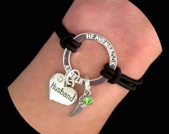 Halo Husband And Angel Wing Grief Memorial Charm Bracelet