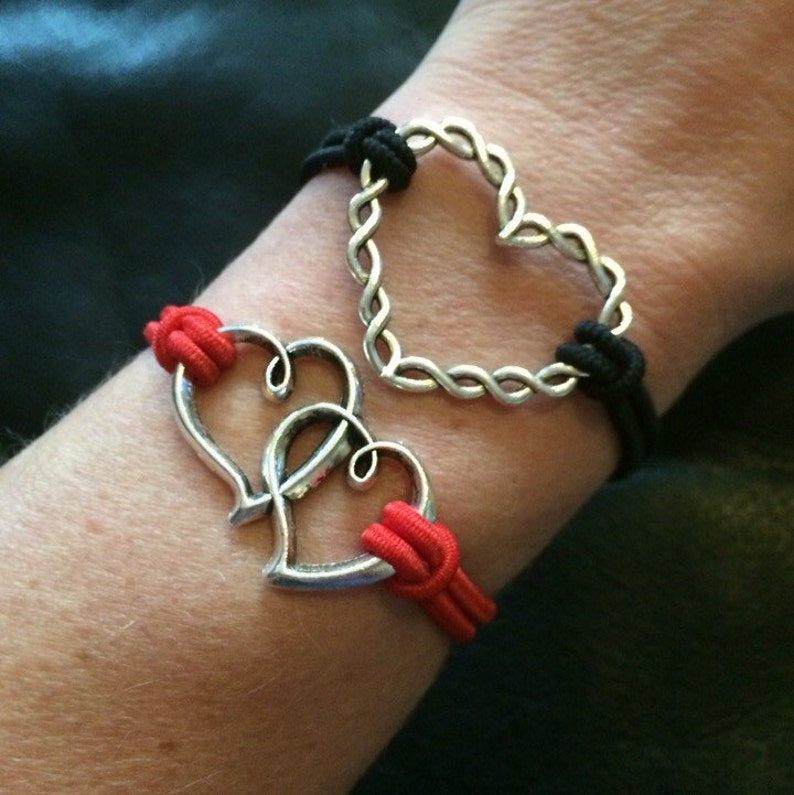 Grief bracelet Stack Twisted Linked Hearts Bracelet Stack Sympathy Giftss Memorial Bracelet