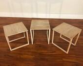 Kai Kristiansen Set of 3 Nesting Tables Made by Vildbjerg Møbelfabrik - Made in Denmark