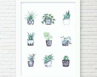 Watercolor Plant Love