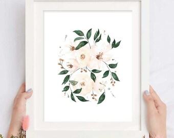 Watercolor Blush Floral