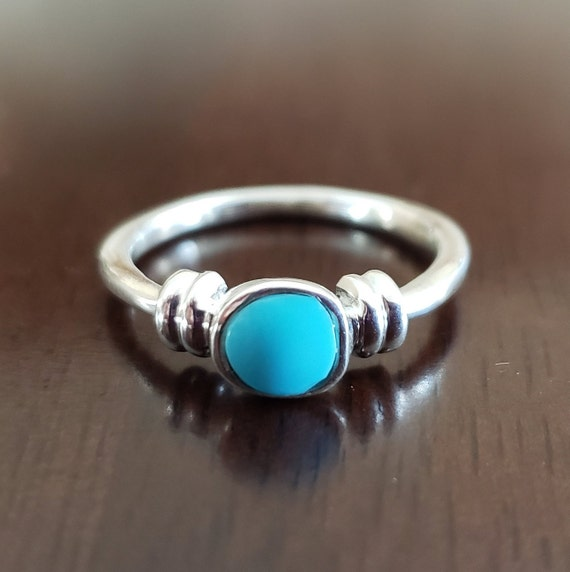 "Turquoise ""Rope"" Ring"