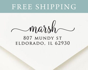 Family Self inking Return Address Stamp - Wedding Calligraphy Address Stamp, Wedding Address Stamp, Couples Address Stamp (110)