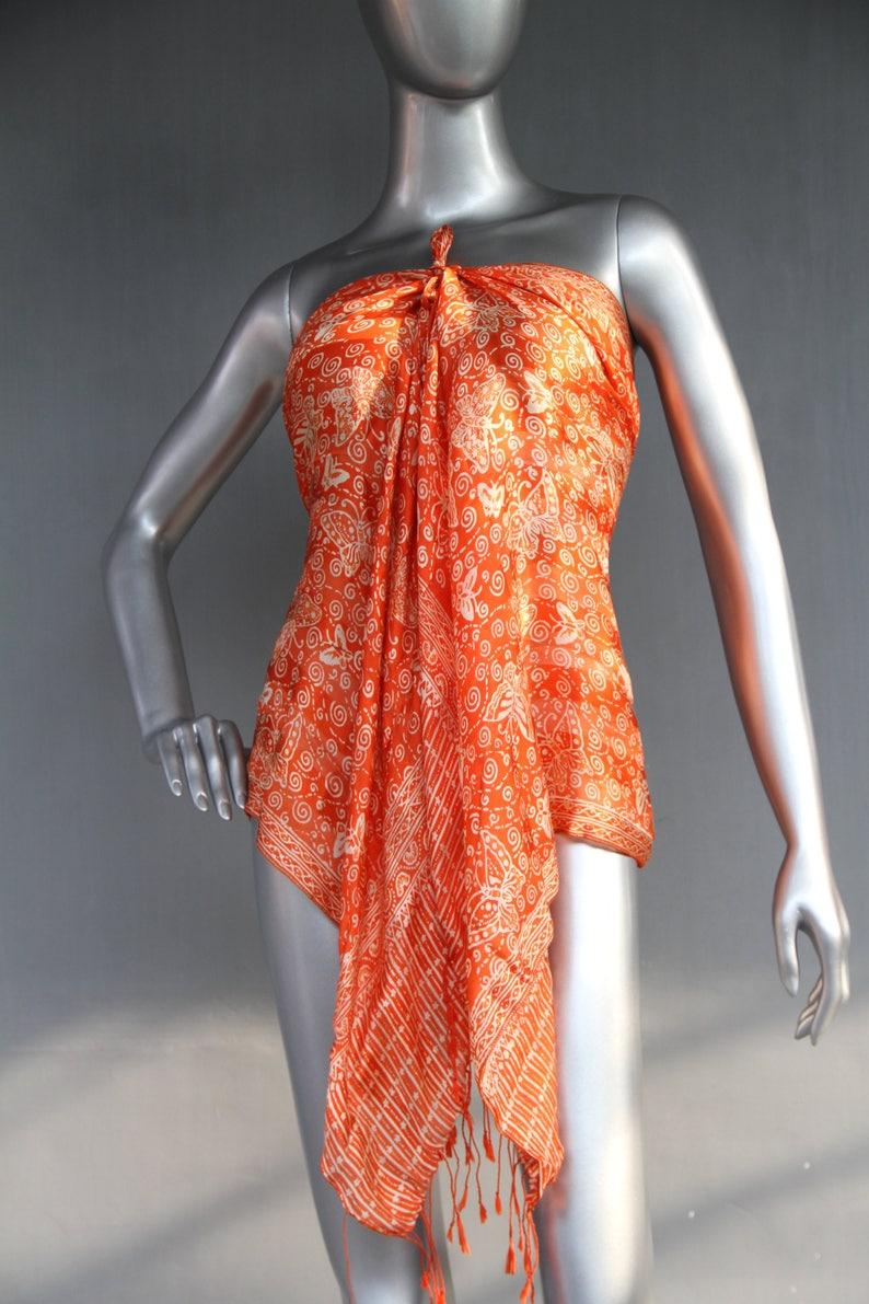 7edf1e58adc23c Orange Schal Butterfly Schal große Orange Wrap Jahrgang Seide | Etsy
