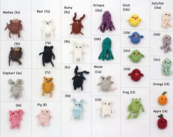 Choose Your Own Miniature, Crochet, Amigurumi Critter Keychain Accessory!