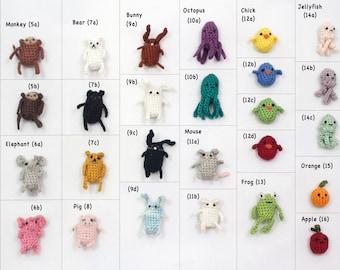 Create Your Own Miniature Crochet Amigurumi Critter Earring Jewelry Accessory Set Amigurumi Earrings Cute Earring Sets Amigurumi Critter