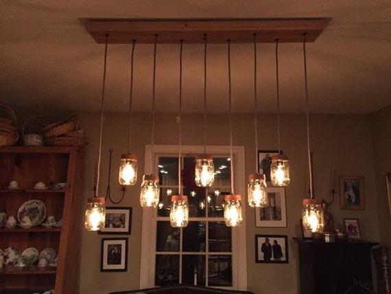 5 11 Light Diy Mason Jar Chandelier Kit Rustic Wood Chandelier Vintage Lighting Mason Jar Pendants Candelabra Bulbs E12