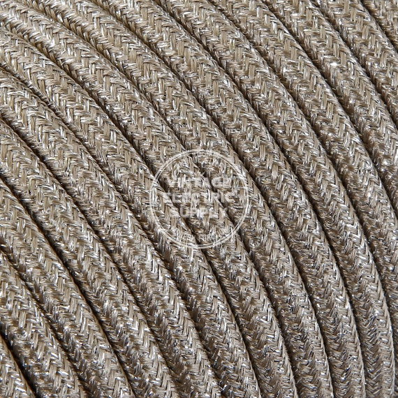 sand glittering cloth covered wire vintage lamp cord etsy rh etsy com antique lamp wiring kit antique lamp wiring diagram