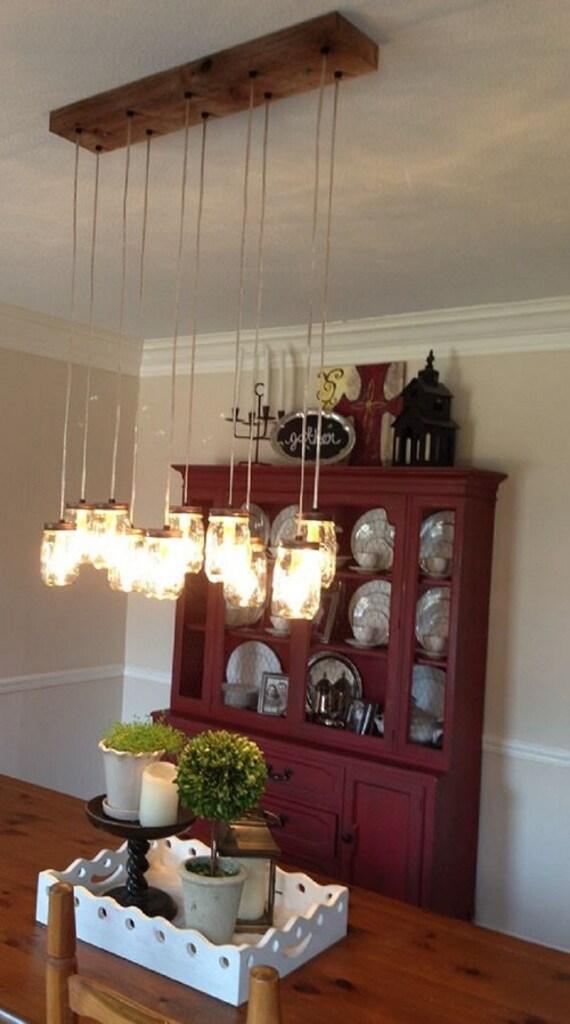 Standard Socket Vintage Lighting 14 Light DIY Mason Jar Chandelier Rustic Cedar Mason Jar Pendants E26 Rustic Wood Chandelier
