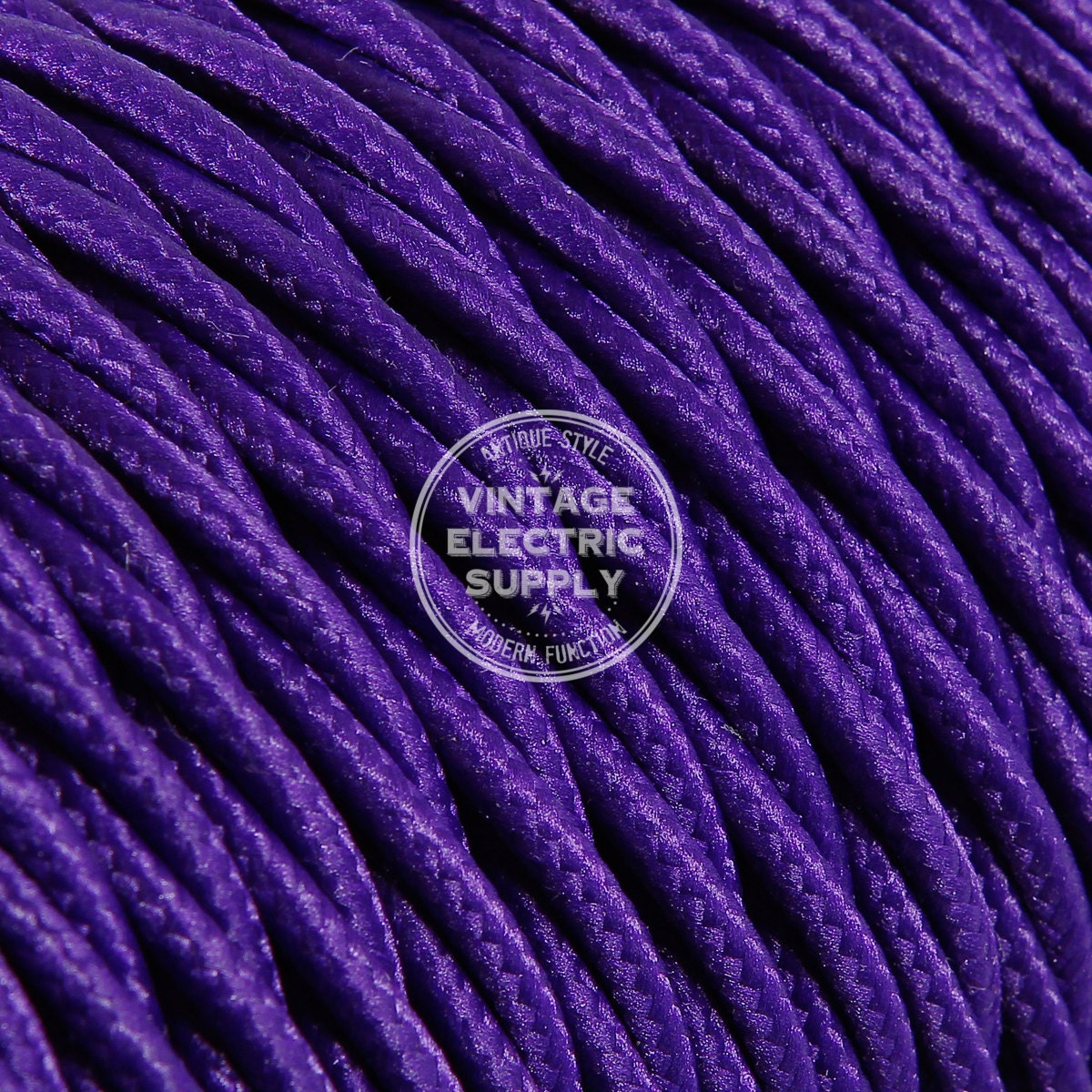 Purple Twisted Cloth Covered Wire Vintage Lamp Cord Etsy Antique Wiring 50